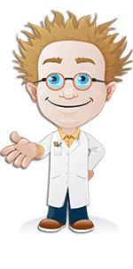 Mascot professor vector 150*255