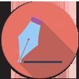 Proofreading help flat icon 116*116