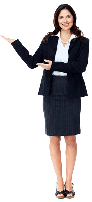 Business lady in black suit PNG 322*707